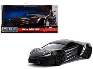 "Lykan Hypersport ""Black Panther"" Theme ""Marvel"" Series 1/32 Diecast Model Car by Jada"