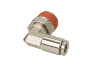 """1/4"""" NPT(M) to 3/8"""" Airline 90 Degree Swivel Elbow Fitting (4 pcs) DOT Approved"""