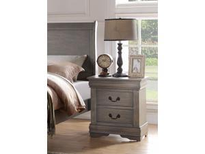 Louis Philippe - Nightstand  Antique Gray