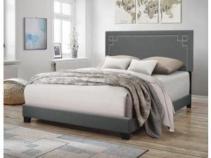Ishiko II - Queen Bed Gray Fabric