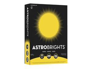 "Astrobrights Acid-Free Copy Paper, 8-1/2"" x 11"", 24 lb, Solar Yellow, Pack of 500"
