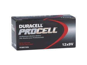 Duracell Procell Alkaline Batteries 9V 12/Box PC1604BKD