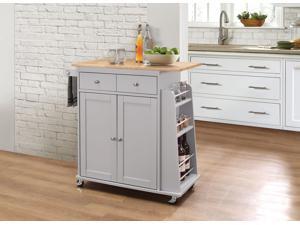 Tullarick - Kitchen Cart Natural & Gray