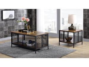 Coffee Table - Antique Oak & Black Taiwan By Acme Furniture