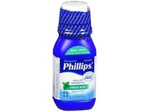 Phillips Milk of Magnesia Laxative Antacid, Mint, 12 Ounces