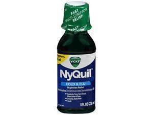 Vicks NyQuil Cold & Flu Nighttime Relief Liquid - 8 oz