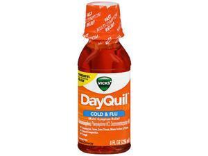 Vicks DayQuil Cold & Flu Liquid - 8 oz