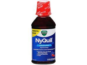 Vicks NyQuil Cold Flu Nighttime Relief Liquid Cherry - 12 oz