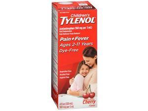 Tylenol Children's Pain + Fever Oral Suspension Cherry Flavor - 4 oz