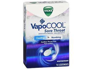 Vicks VapoCool Sore Throat Lozenges Winterfrost - 16 ct