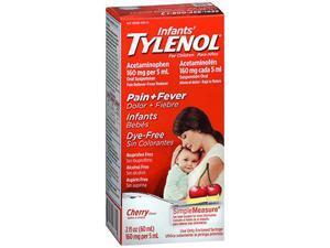 Tylenol Infants Pain + Fever Oral Suspension Dye Free Cherry - 2 oz