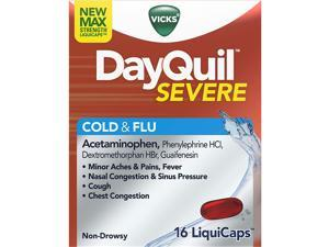 Vicks DayQuil Severe Cold & Flu, Non-Drowsy 16ct.