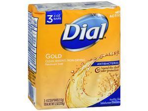 Dial Antibacterial Deodorant Soap Gold, 3 - 4 oz Bars