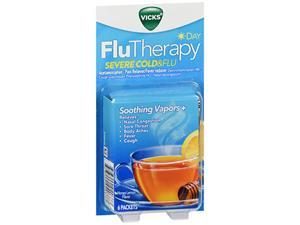 Vicks FluTherapy Severe Cold & Flu Day Packets Honey Lemon Flavor - 6 ct
