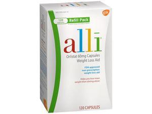 alli Weight Loss Aid Refill Pack Capsules - 120 Capsules