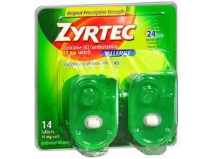 Zyrtec Allergy 10 mg Tablets Blister Pack - 14 ct