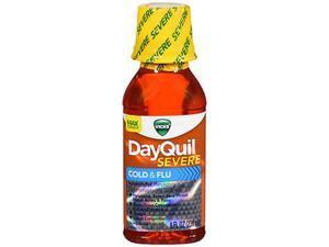 Vicks DayQuil Severe Cold Flu Liquid Max Strength - 8 oz