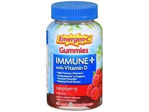 Emergen-C Immune Plus With Vitamin D Gummies Raspberry - 45 ct
