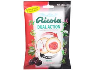 Ricola Cherry Dual Action Throat Drop 19-count (Pack of 12)