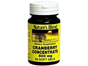 Nature's Blend Cranberry Concentrate 500 mg Soft Gels - 60 ct