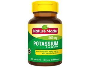 Nature Made Potassium Gluconate 550 mg - 100 Tablets