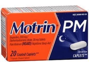 Motrin PM Coated Caplets - 20 ct