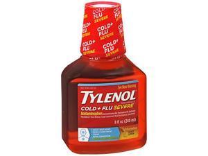 Tylenol Cold & Flu Severe Warming Liquid Honey Lemon - 8 oz