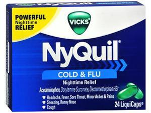 Vicks NyQuil Cold & Flu LiquiCaps - 24 ct
