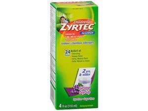Zyrtec Children's 24 Allergy Syrup Grape - 4 oz