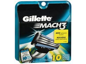 Gillette MACH 3 Cartridges 10 Refill Cartridges