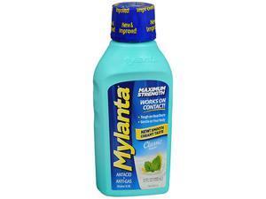 Mylanta Antacid + Anti-Gas Liquid Maximum Strength Classic Flavor - 12 oz