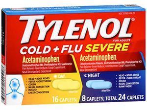 Tylenol Cold + Flu Severe Day & Night Caplets - 24 ct