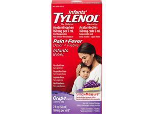 Tylenol Infants' Pain + Fever Oral Suspension Grape Flavor - 2 oz