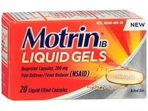 Motrin IB 200mg Liquid Gels - 20 ct