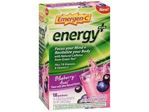 Alacer Emergen-C Emergen-C Energy Plus - Blueberry-Acai 18 Pkts