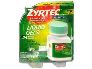 Zyrtec Allergy 10 mg Liquid Gels - 40 ct