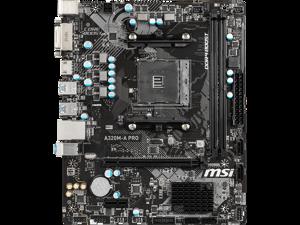 MSI A320M-A PRO AMD Socket A320 AM4 MicroATX Desktop Motherboard
