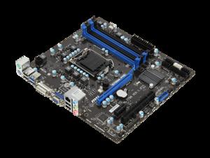 MSI B75MA-P45 Intel B75 LGA1155 DDR3 PCIe3.0 SATA3 USB3.0 Micro-ATX Motherboard
