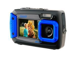 COLEMAN 2V9WP-BL 20.0 Megapixel Duo2 Dual-Screen Waterproof Digital Camera (Blue)