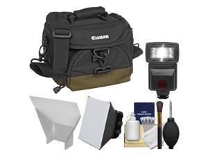 Canon 100EG Digital SLR Camera Case - Gadget Bag + Flash + Soft Box + Reflector