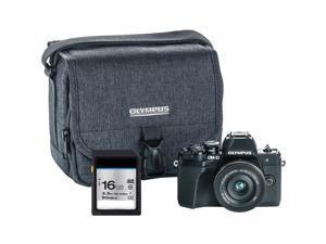 Olympus OM-D E-M10 Mark III Mirrorless Micro Four Thirds Digital Camera with 14-42mm EZ Lens - Black V207072BU010