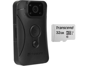 Transcend DrivePro Body 10 1080p HD Video Camera Camcorder Includes a 32GB microSDHC Card