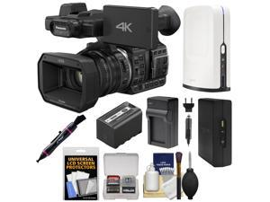Panasonic HC-X1000 4K Ultra HD Wi-Fi Video Camera Camcorder with SlingStudio Portable Hub & Cameralink + Battery + Charger + Kit