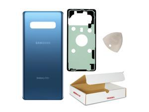 Compatible with Samsung Galaxy S10+ Plus Model G975 OEM Replacement - Prism Blue Rear Back Glass Door Housing Battery Cover with Adhesive and Opening Tool