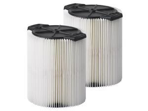 MULTI FIT Wet Dry Vacuum Filter VF7816TP, Craftsman Vac 5-Gal. or Larger, 2-Pack