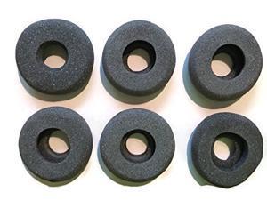 Foam Ear pads w/hole for Plantronics headsets, GN Netcom/Jabra, Smith Corona, VXI headsets - QUANTITY OF 6