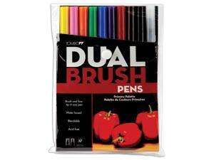 Tombow Dual Brush Pen Set 10/Pkg-Primary
