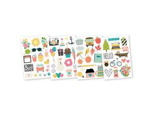 "Designer Binder 6/""X8/""-Robin/'s Egg Stripe Simple Stories SNAP3995 Sn@p"
