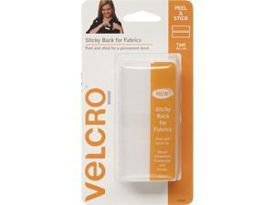 Hook Eye Adhesive(R) Brand STICKY BACK For Fabric Tape 4''X6''-White