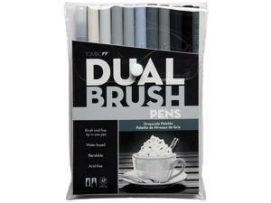 Tombow Dual Brush Pen Set 10/Pkg-Grey Scale